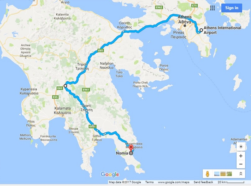 Year-round Athens Airport via new highway (300 km) good 3 hours