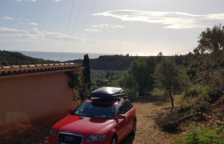 am Morgen vor der Abfahrt nach Athen und zurück