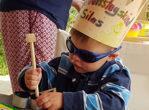 Silas das Geburtstagskind wird 3 Jahre alt