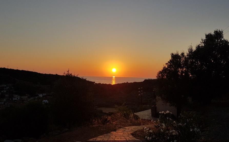 2021 Sonnenaufgang im Juli / August auf Kadowlos