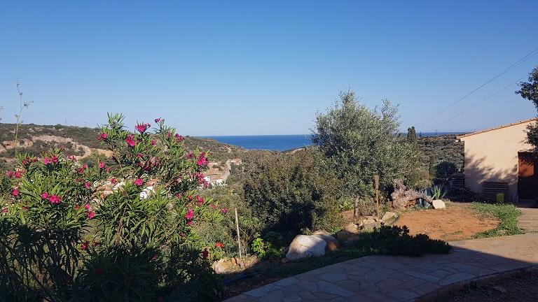 2020 Blick von Kadowlos auf Nomia und das Meer | View from Kadowlos on Nomia and the sea
