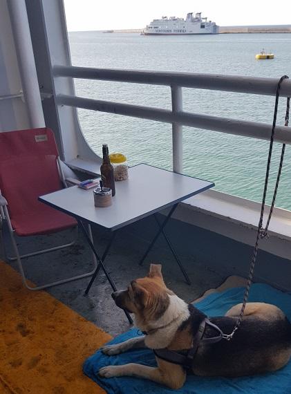 unser Balkon auf der Fähre Superfast