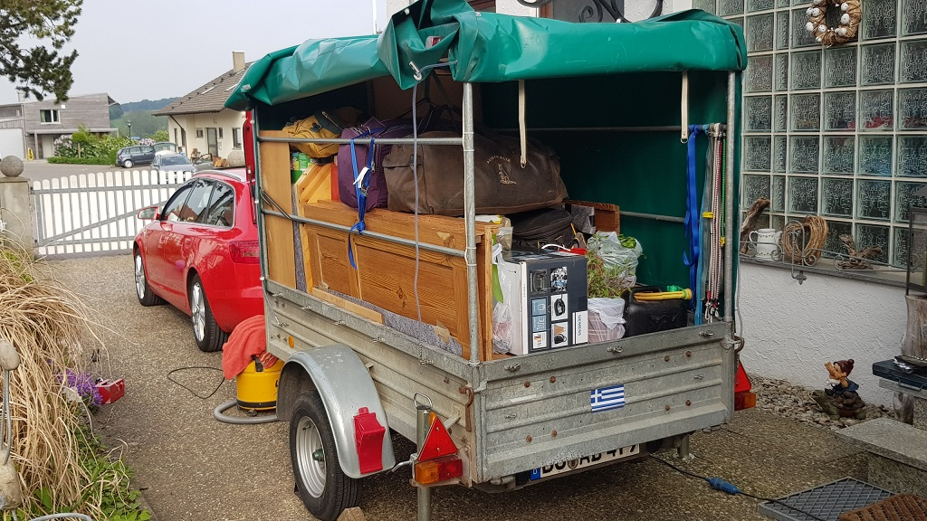 the trailer fully loaded ready to go