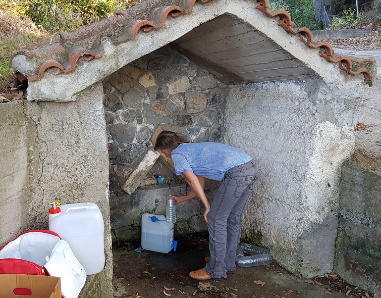 In Lyra in the mountains, we bring fresh healthy drinking water from the spring