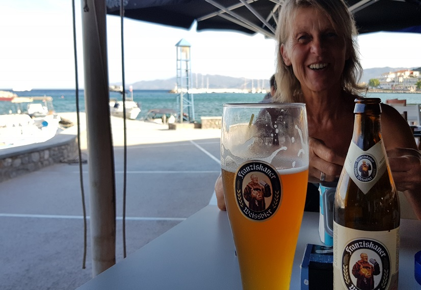 Bavarian beer in Monemvasia