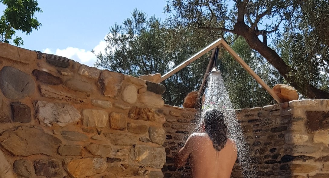 Refreshment in the outdoor shower