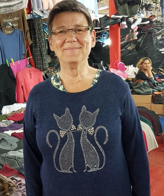 Karin: Nektarius Markt in Sykia