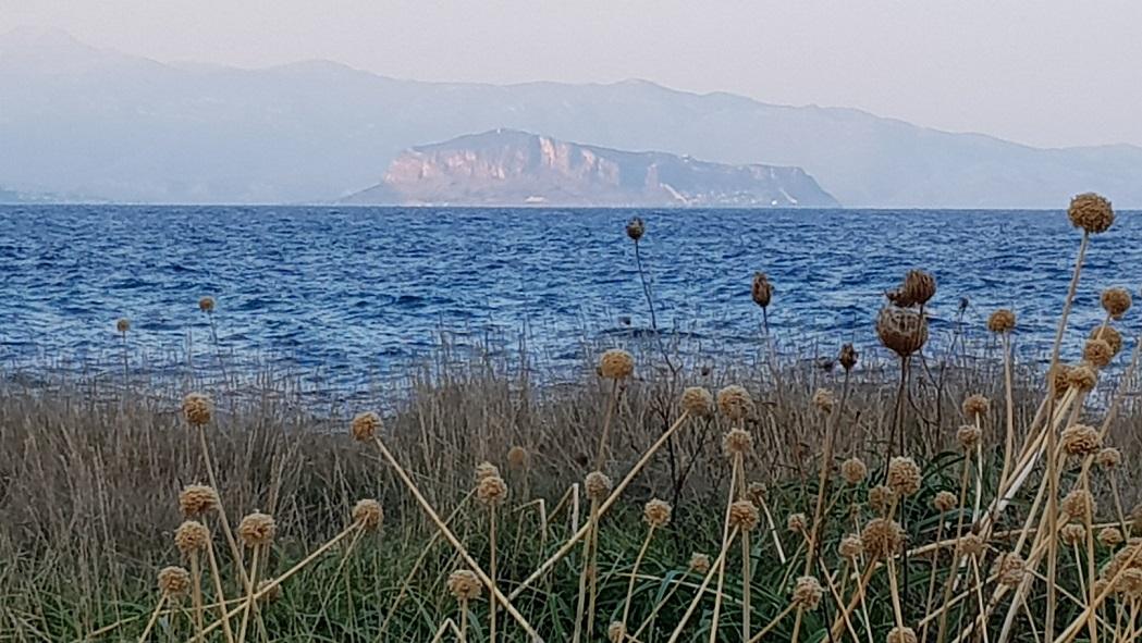 Blick auf den Fels Monemvasia
