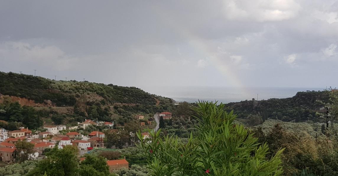 der Regenbogen war in Natura viel schöner und intensiver